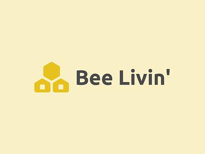 Bee Livin' Logo typography mark branding idenity logodesign logo
