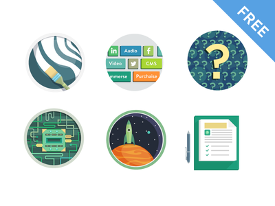 Freebies  free icons space brush set question technology
