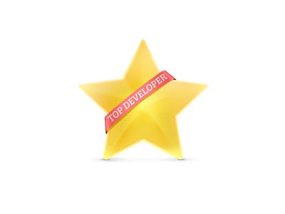 Top developers! star ribbon winner victiry