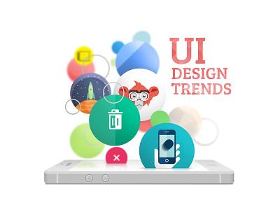 Design Trends blog article bubbles phone