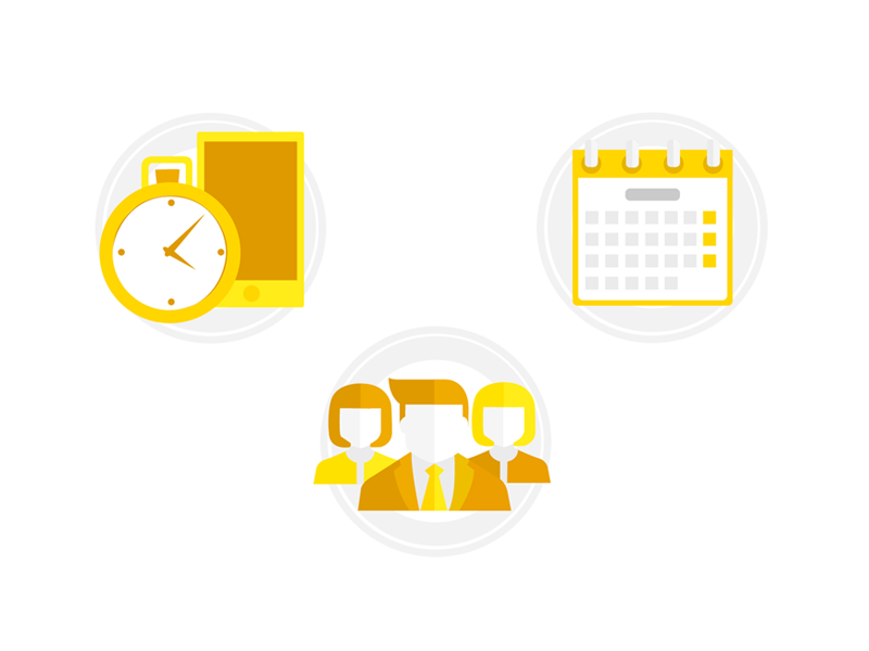 Set of icons app icon calendar people time