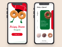 Krispy Kreme App Design vector ui illustration design