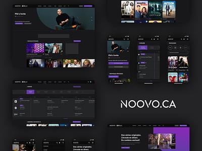 Noovo.ca // UI/UX Redesign Case tv tv show streaming video website ux ui xd photoshop mobile design mobile logo interaction interface design branding
