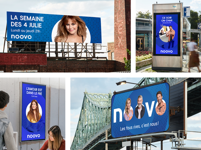 Noovo // Launching Campaign photoshop print design ui logo artist poster tv network dots typogaphy advertising motion brand branding round