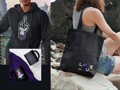 BAD FTLV.   Merch behance bag hoody coffee city beach love ui vector photoshop unicorn typography illustration branding design