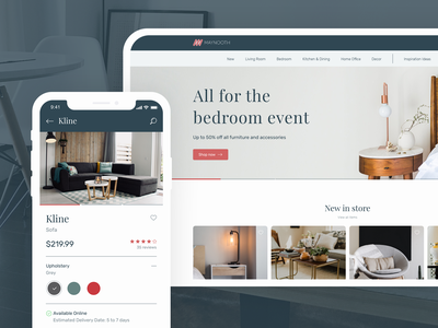 Maynooth Furniture furniture adobe xd design ux ui app website web interaction interface