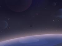 Nobody sky space flat illustration