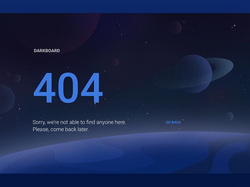 Dashboard 404