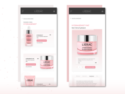 Daily UI 012 | E-commerce Shop | LIERAC PARIS