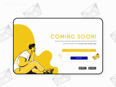 DAILY UI #048 | Coming Soon