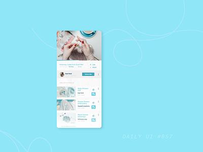 DAILY UI #057 - Video Player dailyui057 057 daily ui 057 tutorials video player video mobile ui uiuxdesigner uiux ui design dailyuichallenge uidesign daily 100 challenge dailyui ui