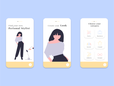 Fashion Concept App UI