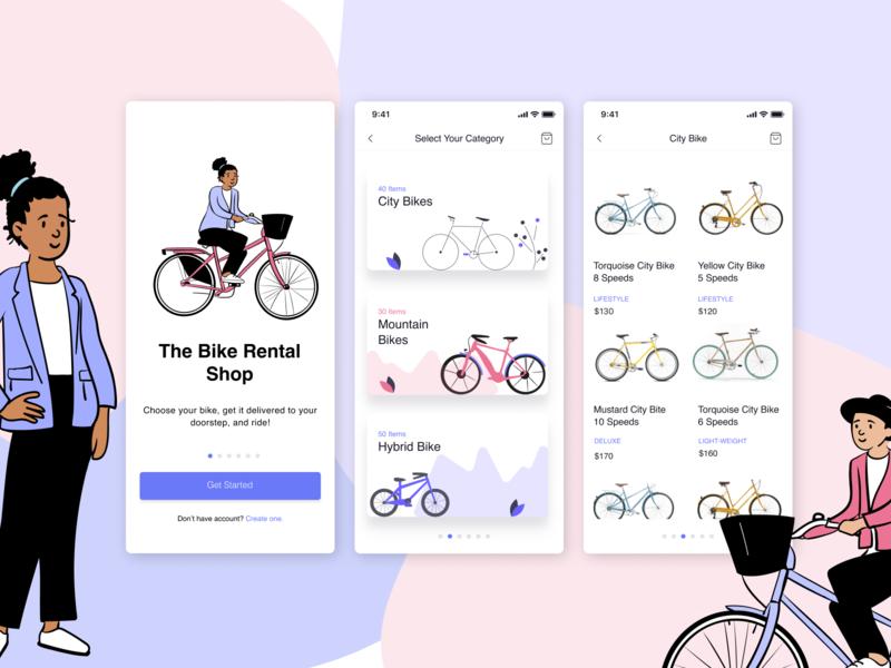 Bike Rental Concept UI