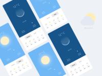 DailyUI Weather Concept App Design forecast app design app concept weather mockups screen mockup vector designer illustration figma design weather widget daily ui ui ux ux design weather ui weather forecast weather app