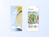 DailyUI Recipe Concept App design healthy food options mobile ui mobile app ui ux figmadesign dailyui onboarding receipe app onboarding ui sign in ui discover food app receipe recipe concept app dailyui053