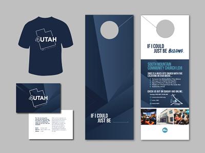 Four Year Anniversary Design & Logo flyer t-shirt design doorhanger