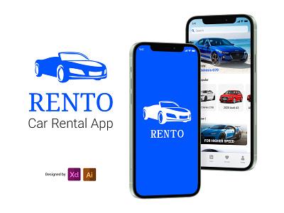 Rento (car rental app) mobile application car rental rental cars