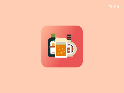 DailyUI#005 | Drinking Game App Icon