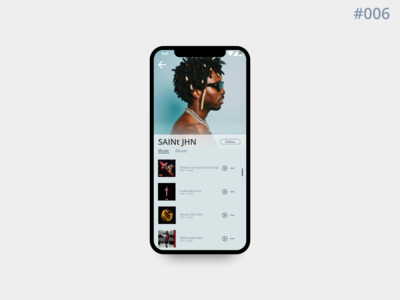 DailyUI#006 | Musicians Profile