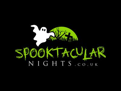 Spooktacular Nights logo design brand identity