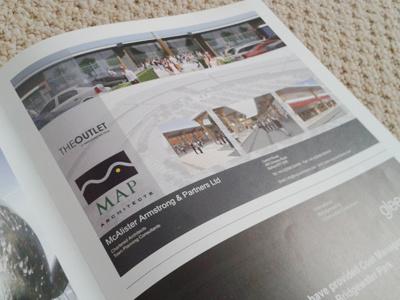 MAP Architects Advertisement print graphic design