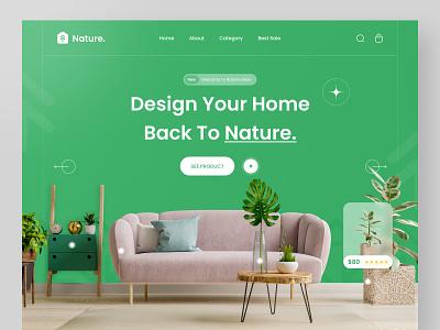 Nature. - Hero Header Interior naturewebdesign graphic design design ux ui web plantwebdesign plant nature heroheader websitedesign webdesign interiorwebdesign uidesign interior