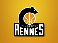 Rennes Stoat basketball team logo