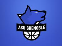 Grenoble wolf basketball team logo