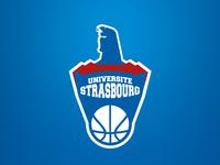Strasbourg superman basketball team logo