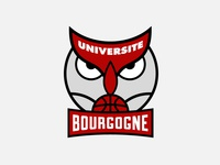 Universite Bourgogne Basketball Team Logo