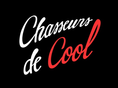Chasseursdecool Logo flat creative hunting website logo cool lettering typography