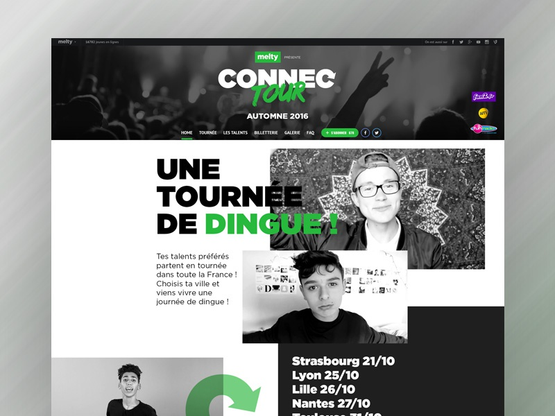 Connectour description youtube concert dates tour show pictures ui ux