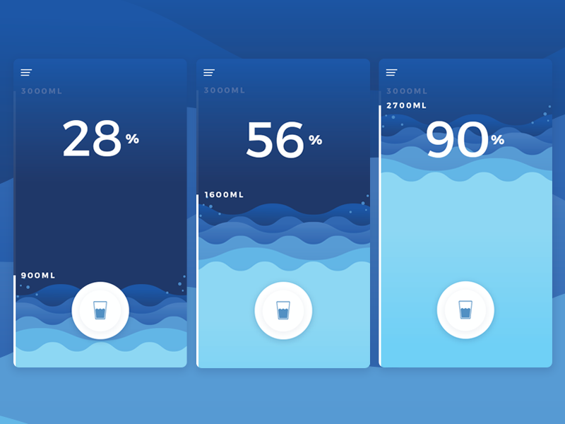 Water Tracking App by Serhiy Kozachuk for Apps Foundation on Dribbble