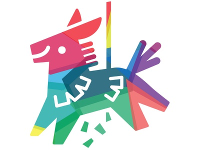 Piñata Llama for Innovation Endeavors vector 2014 color rainbow fun logo