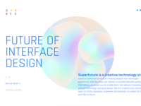 Superfuture Web Layout