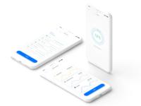 Light Human computer interaction UI white progress data ux ui simple iphonex ios clean app