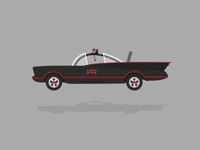Batmobile Illustration