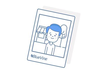 BlueVine Illustration flat blue factoring invoices infographics illustration