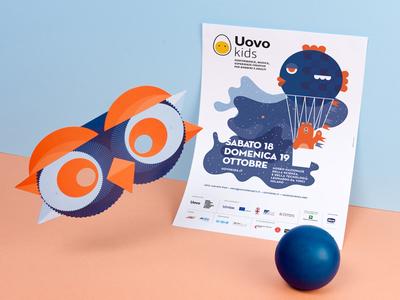 Uovo Kids 2014 illustration uovo kids children mask tattoo bear owl fish graphic brand
