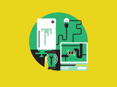 Smart Tecnologies illustration vector illustrator industry europe smart meter smart grid energy save