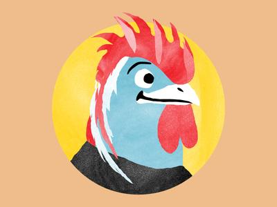 Uovok 2015 Tattoo3 rooster tattoo kids children icons illustration