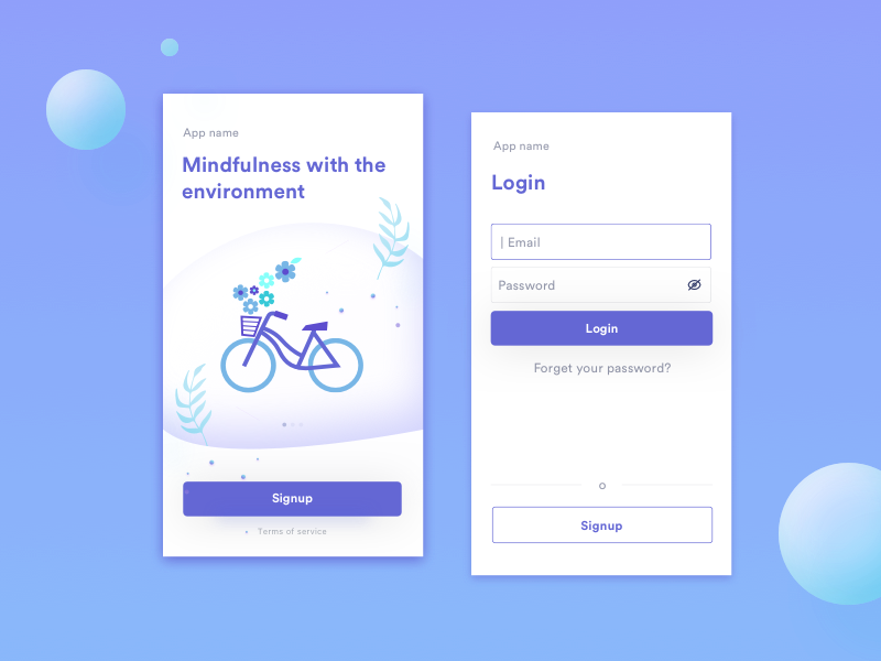 Login App Mindfulness by Laura Peco on Dribbble