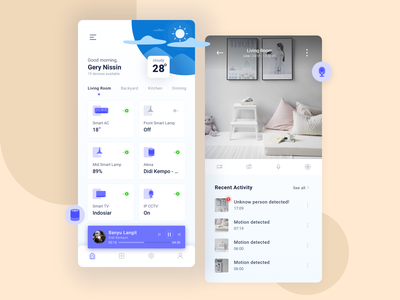 IPV Smart Home app debut home control weather app app design cctv mobile app mobile ui ux ui app smarthome