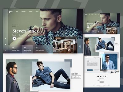 Fashion Designers - Web Concept