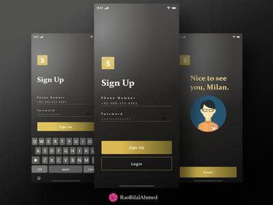Black Gold - UIX Design