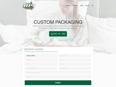 Custom Packaging Landing Page