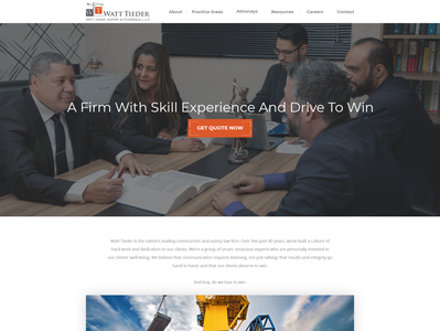 Best Construction Law firm in the country needs modern website t
