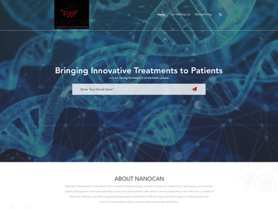 Landing page design contest for a new and innovative biotechnolo