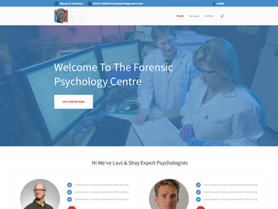 Design a website for a 'company of 2' expert psychologists - sim