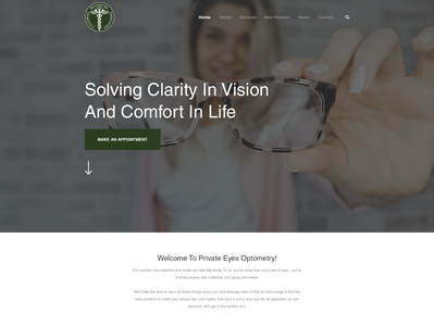 Optometry practice needs modern, professional website to show th